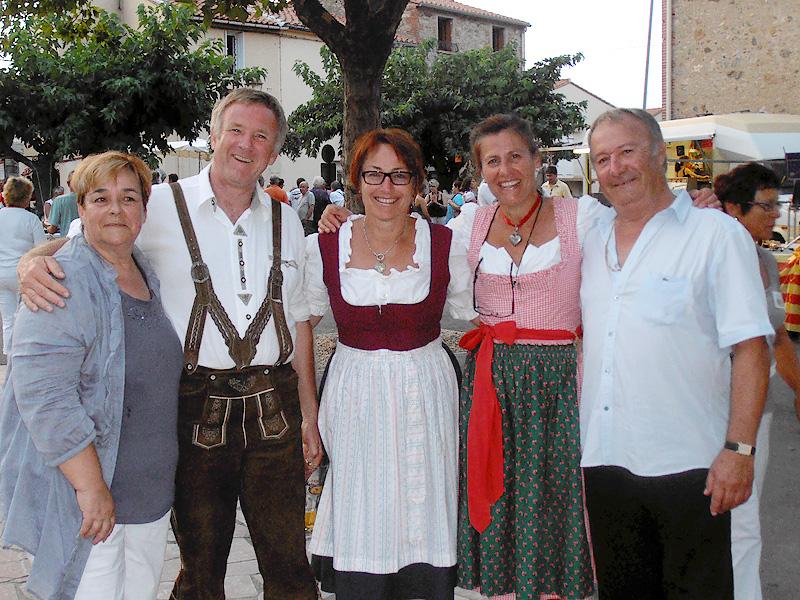 Partnerschaftsfeier in St. Genis des Fontaines